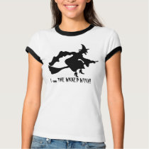 flying witch on broomstick T-Shirt