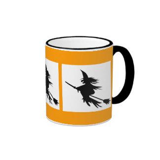 Flying Witch Shadow Halloween Mug