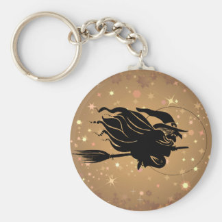 Flying Witch Silhouette Keychain