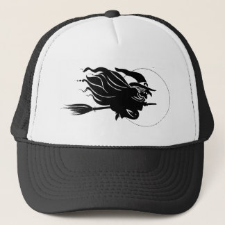 Flying Witch Silhouette Trucker Hat