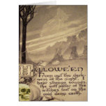 Flying Witch Skull Pumpkin Greeting Cards