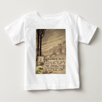 Flying Witch (Vintage Halloween Card) Baby T-Shirt