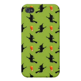 Flying Witches and Candy Corn.jpg iPhone 4/4S Case