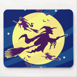 Flying Witches Mouse Pad