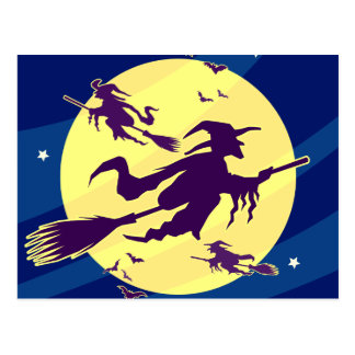 Flying Witches Postcard