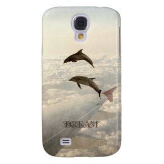 Flying with Dolphins Galaxy S4 Cases