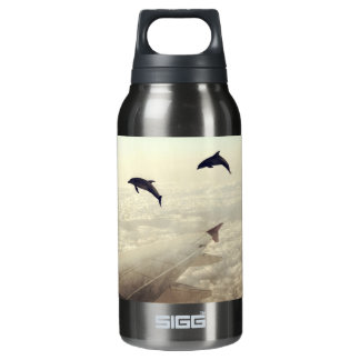 Flying with Dolphins Insulated Water Bottle