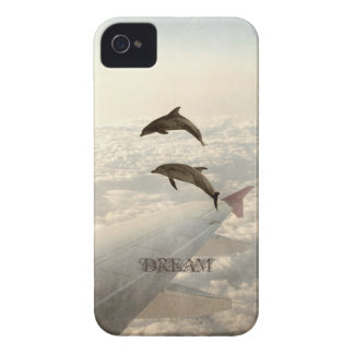 Flying with Dolphins iPhone 4 Case