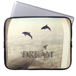 Flying with Dolphins Laptop Sleeves