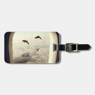 Flying with Dolphins Luggage Tag