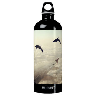Flying with Dolphins Water Bottle