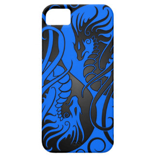 Flying Yin Yang Dragons - blue and black iPhone SE/5/5s Case