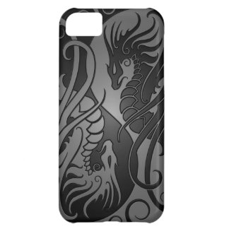 Flying Yin Yang Dragons - dark Cover For iPhone 5C