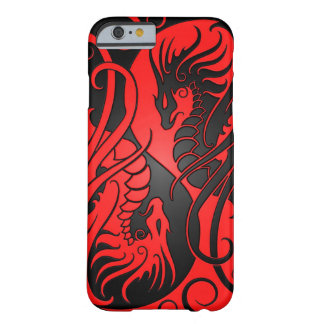 Flying Yin Yang Dragons - red and black Barely There iPhone 6 Case