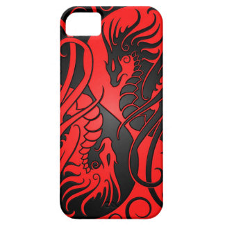 Flying Yin Yang Dragons - red and black iPhone SE/5/5s Case
