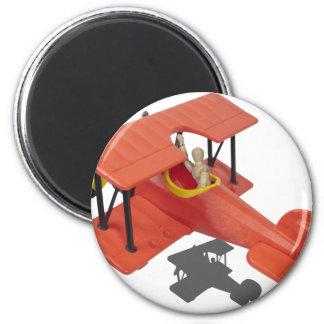FlyingBiPlane110510 Fridge Magnet