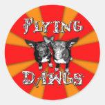 flyingdawgs rainbow red logo sticker