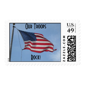 flyinghigholdglory, Our Troops, Rock! Postage