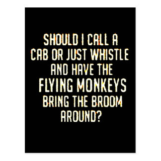 flyingmonkeyswhistle tarjeta postal