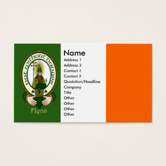 Flynn Clan Motto Business Cards