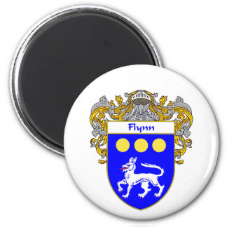 Flynn Coat of Arms (Mantled) Magnet