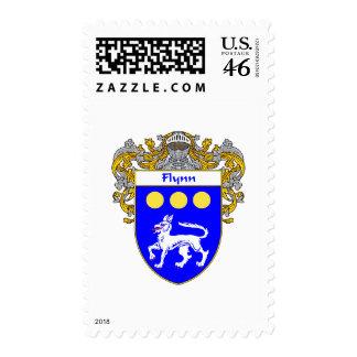 Flynn Coat of Arms (Mantled) Postage