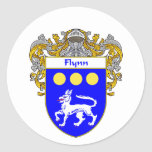 Flynn Coat of Arms (Mantled) Sticker