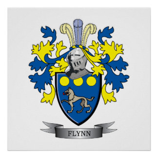Flynn Coat of Arms Poster