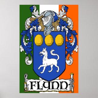 Flynn Coat of Arms Poster Print