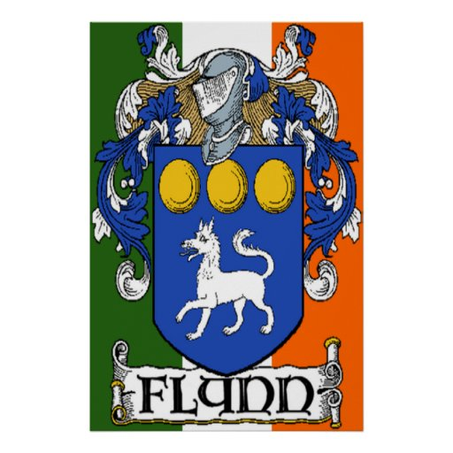 Flynn Coat of Arms Poster Print
