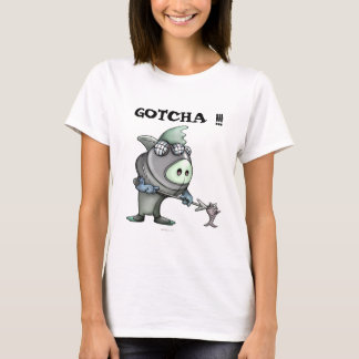 FLYNN CUTE ALIEN DIVER CUTE WOMEN'S T-Shirt