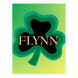 Flynn Family Name Postcard