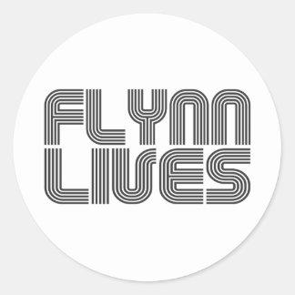Flynn Lives Classic Round Sticker