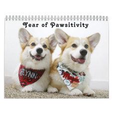 Flynn & Mugen's Year of Pawsitivity Calendar