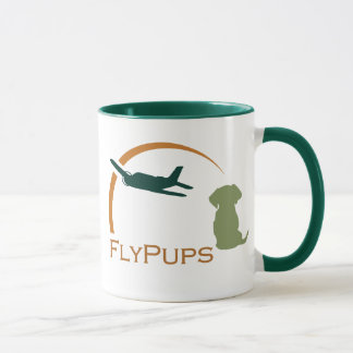 FlyPups Accented Coffee Mug