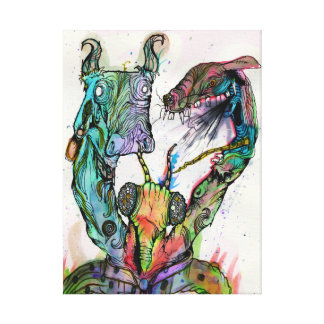 Flys among rats canvas print