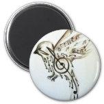 Flys de la música imán redondo 5 cm