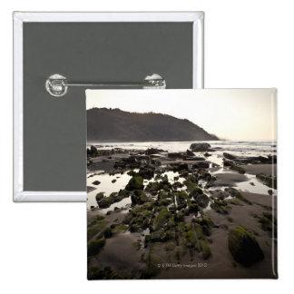 Flysch en la costa de Deba, Guipuzcoa, vasco Pin Cuadrada 5 Cm