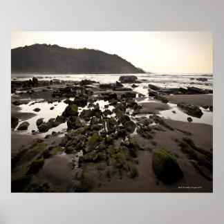 Flysch en la costa de Deba, Guipuzcoa, vasco Póster
