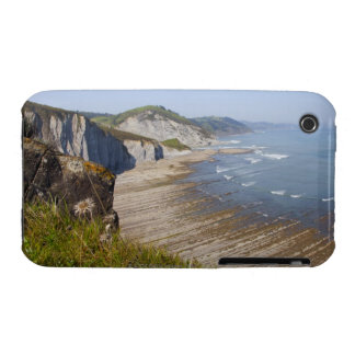 Flysch en la costa de Zumaia, Guipuzcoa, vasco iPhone 3 Cobertura