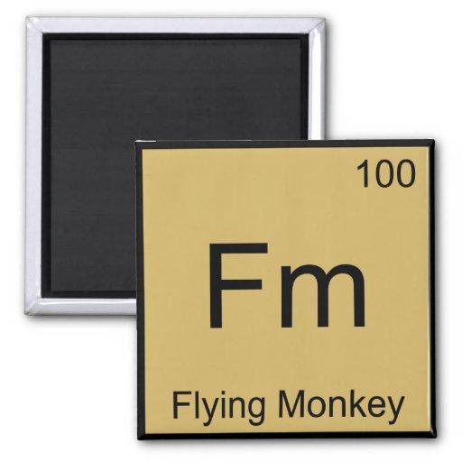 Fm - camiseta del símbolo del elemento de la quími iman
