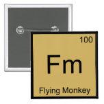 Fm - camiseta del símbolo del elemento de la quími pin