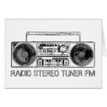 Fm estéreo de radio del sintonizador tarjeton