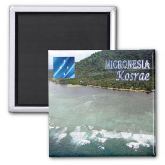 FM - Federated States of Micronesia - Kosrae Imán Cuadrado