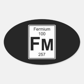 Fm - Fermium Oval Sticker