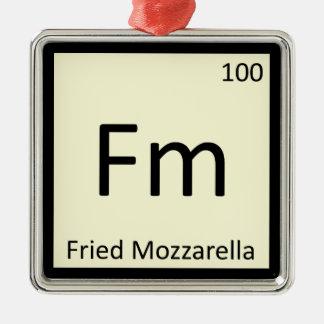 Fm - Fried Mozzarella Appetizer Chemistry Symbol Christmas Ornament