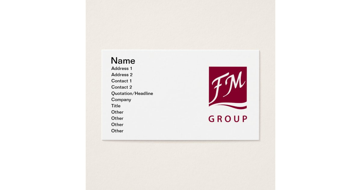 FM Group Perfume Business Card   Zazzle.com