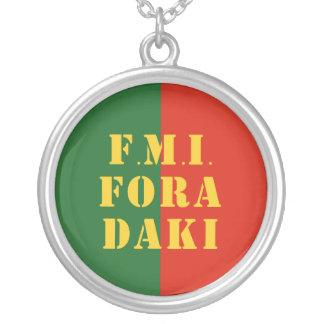 FMI Fora Daqui Silver Plated Necklace