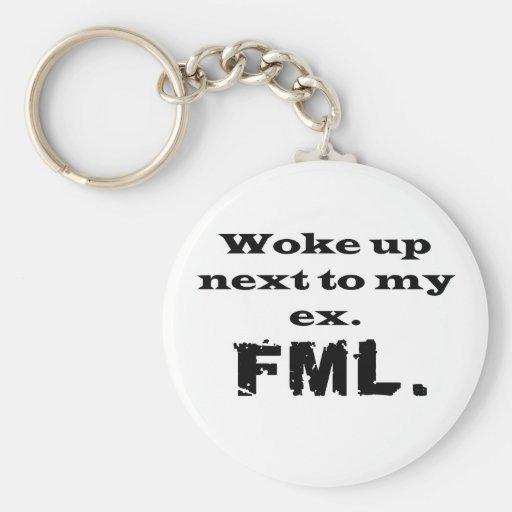 FML Ex Basic Round Button Keychain