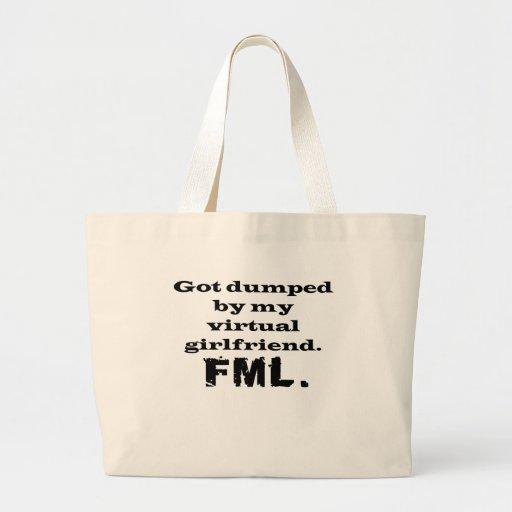 FML Virtual Girlfriend Jumbo Tote Bag